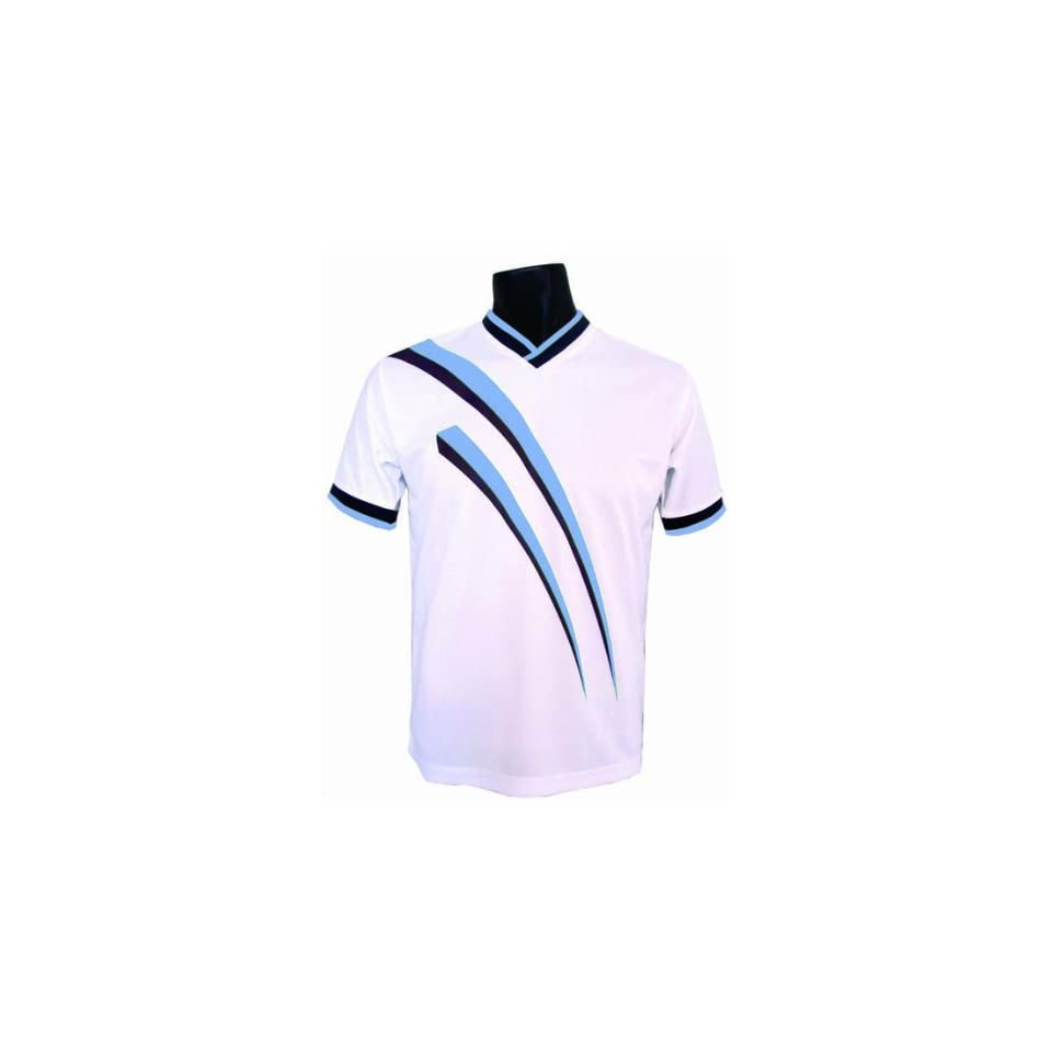 d44bd14a0 Epic AGGRESSOR Soccer Jerseys 8 COLORS WHITE/SKY BLUE YS on PopScreen