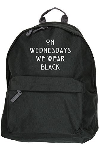 hippowarehouse-on-miercoles-we-wear-negro-mochila-mochila-dimensiones-31-x-42-x-21-cm-capacidad-18-l