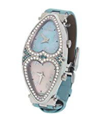 Jacob & Co. Ladies Swiss Blue Heart to Heart Two Time Zone Diamond Watch 1.48CT