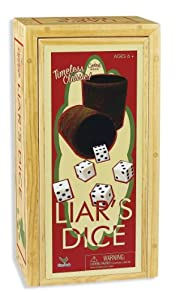 Cardinal Games Liars Dice In Wood Box Retro Game