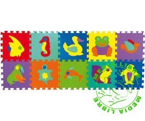 EDUCATIONAL PLAY MATS - Interlocking floor tiles for Toddlers *Same Day Dispatch* (CAT 272 ANIMALS)