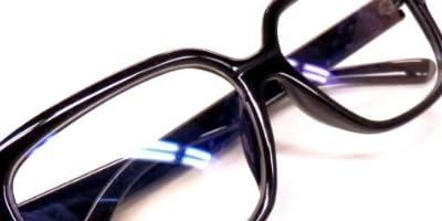 パソコン用 PCメガネ【ブルーライトカット(青色光)/UVカット】 スマートフォン・ゲーム・液晶テレビ対応つや消しブラック (つや消しブラック)