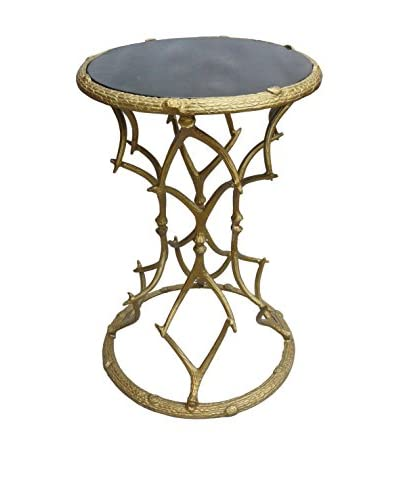 Coast to Coast Antler Metal Accent Table, Gold