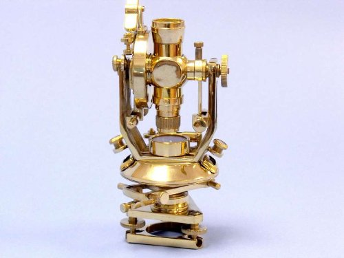 "Brass Theodolite 10"" Beach Bedroom Decorating Ideas Nautical Gift Suppliers - Brand New"