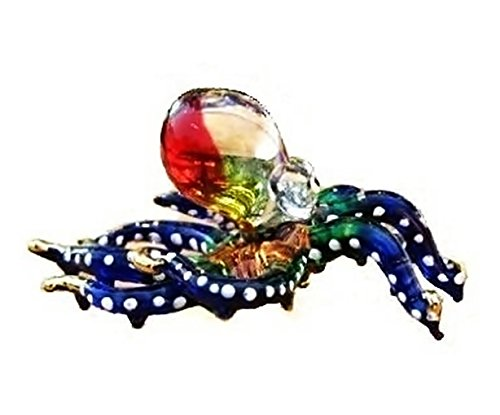 Handmade Swimming Octopus Art Glass