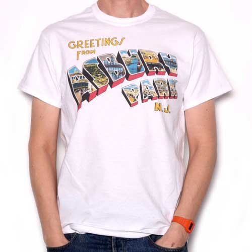 Greetings From Asbury Park T Shirt - Full Colour As Used by Springsteen