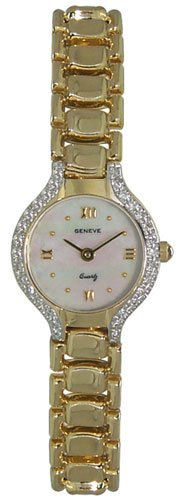 Geneve 14K Gold Diamond Womens Watch W06020-P