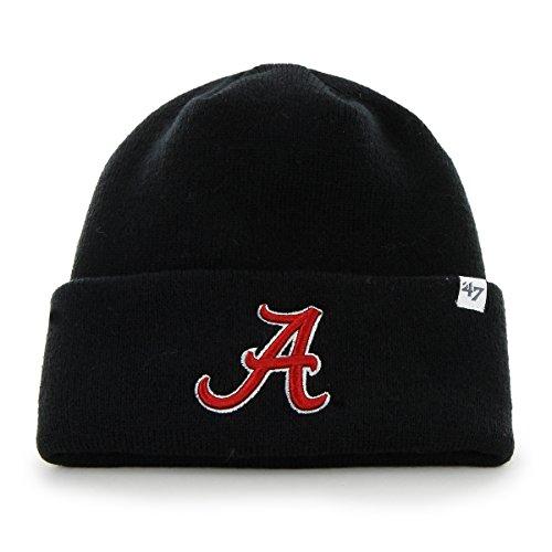 NCAA Alabama Crimson Tide '47 Raised Cuff Knit Hat, Black, One Size (College Football Alabama compare prices)