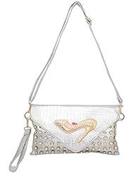 Omkar Shopy New Fashion Women's Ladies PU Hand Bag / Shoulder Bag (Silver) OS12500348