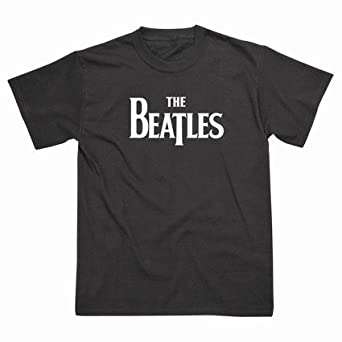Spike Herren T-Shirt The Beatles Logo, schwarz, Gr. S