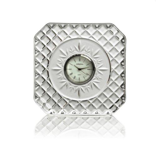 Mikasa Parker 4-Inch Crystal Clock