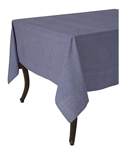 "KAF Home Chambray Tablecloth, Navy, 70"" Round"