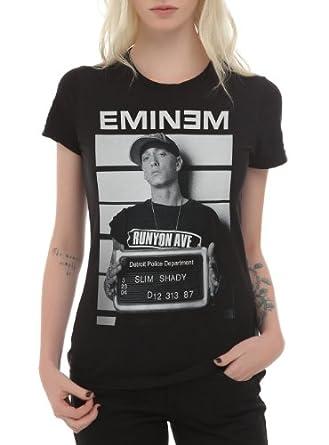 Amazon.com: Eminem Mugshot Girls T-Shirt Size : X-Small: Clothing