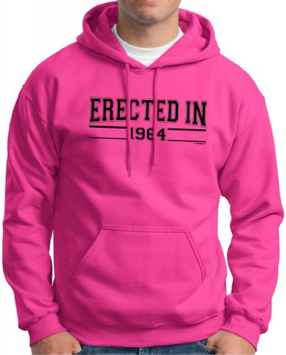 Erected In 1964 Birthday Gift Funny Hoodie Sweatshirt Small Heliconia