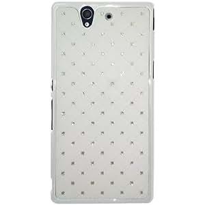 Amzer 95770 Diamond Lattice Snap on Shell Case - White for Sony Xperia Z L36i
