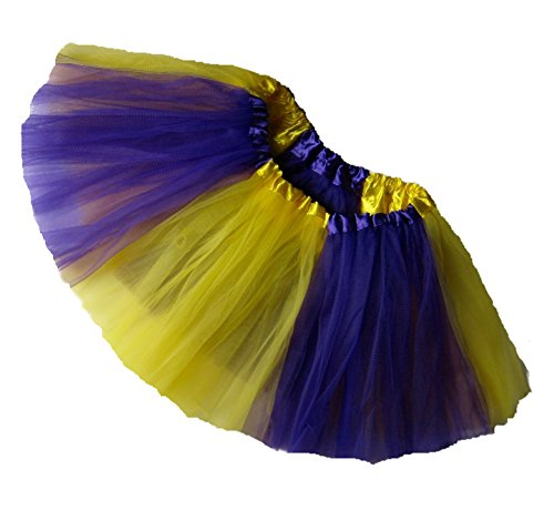 Southern Wrag Co ADULT TEAM SPIRIT Tutu PURPLE YELLOW Waist 20-42 Length 11