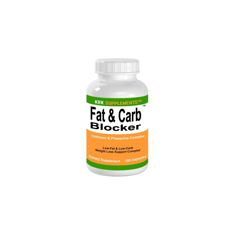 Fat & Carb Blocker 180 Capsules with Phaseolus Vulgaris