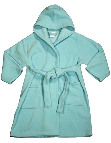Pegasus - Baby Girls Hooded Fleece Robe, Aqua 32887-12-18Months