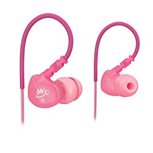 MEE audio Sport-Fi M6 Noise Isolating In-Ear Headphones with Memory Wire (Pink)