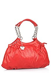 Butterflies Women's Handbag (Red) (BNS 0483)