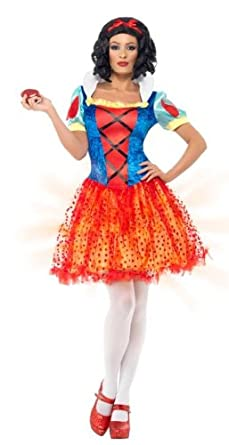 Smiffy's Light Up Snow Beauty Costume with Dress (Large, Blue/ Yellow)