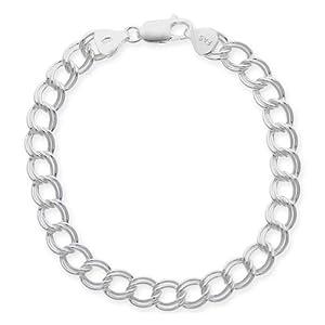 Sterling Silver Double-Link Chain Bracelet, 7