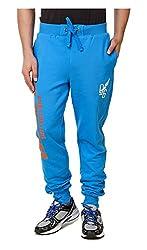 Spunk Men Cotton Track Pant (1000269051003_Blue_L)