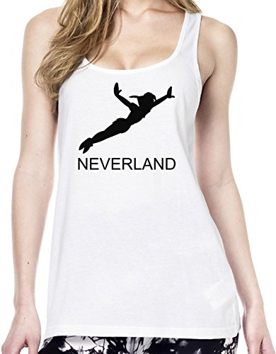 Neverland Peter Pan Slogan Tunica delle donne Large
