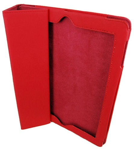 U-Bop Encyclopedia Neo-ORBIT Leather Sensor Case for Apple iPad 3 - Red