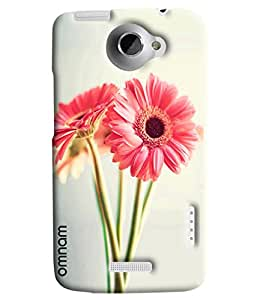 Omnam Two Lily Flower Printed Designer Back Cover Case For HTC One X