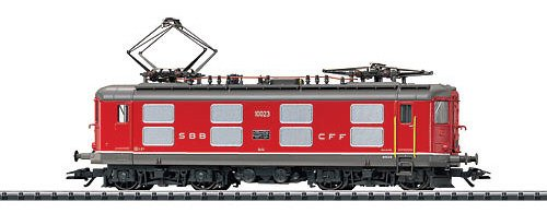 Trix Electric HO Scale Class Re 4/4 Locomotive Swiss Federal Railways SBB/CFF/FFS (Era IV Scheme, red) - Standard DC