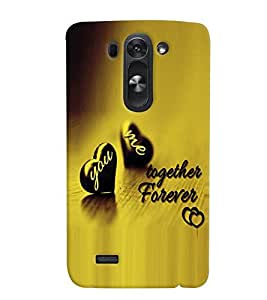 Fuson Premium Together Forever Printed Hard Plastic Back Case Cover for LG G3 Beat
