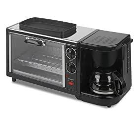 Kalorik BSET-15191 1450-Watt 3-In-1 Breakfast Set, Stainless Steel/Black