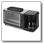 Kalorik Breakfast Set: 3-In-1 Coffee Maker/Oven/Griddle, Stainless/Black