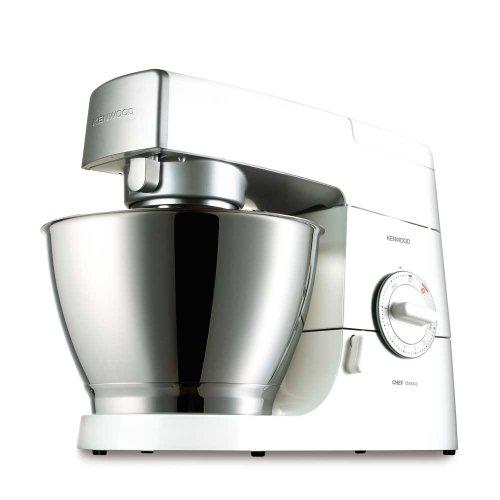 Kenwood Chef Classic KM336 4.6 Litre Kitchen Machine, 800 Watt, White and Silver
