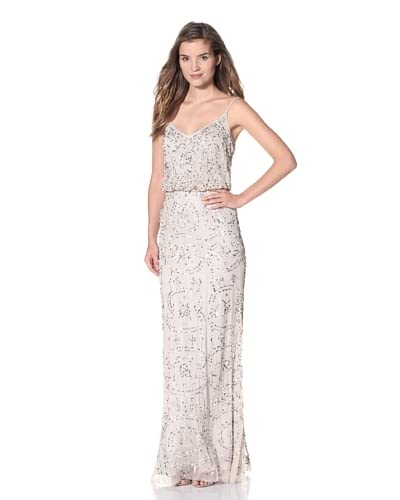 Adrianna Papell Women's Sequined Gown  - Nude