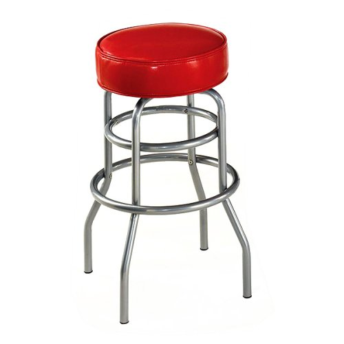 Soda Shoppe Swivel Bar Stools Red with Silver Base  : 41BcR45olXL from overstock-bar-stools.blogspot.com size 500 x 500 jpeg 20kB