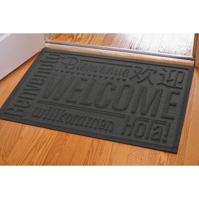 Aqua Shield Worldwide Welcome Mat, 2 by 3-Feet, Charcoal (Commercial Welcome Mat compare prices)