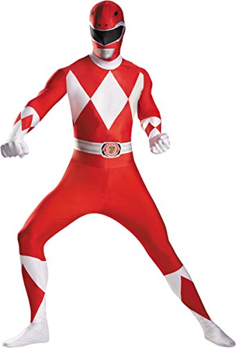 Morris Costumes Men's RED RANGER BODYSUIT ADULT COST, 42-46