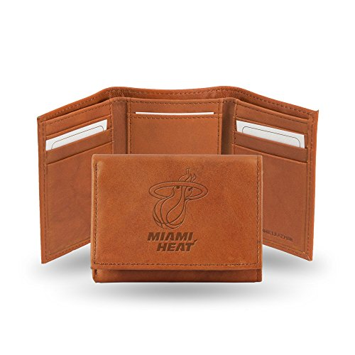 NBA Miami Heat Embossed Genuine Leather Trifold Wallet (Miami Heat Wallet compare prices)