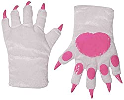 Forum Novelties Women's Cat Paws Adult Costume Gloves, White, One Size