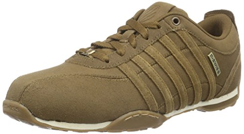 k-swiss-men-arvee-15-low-top-sneakers-brown-bison-amber-gold-236-9-uk-43-eu