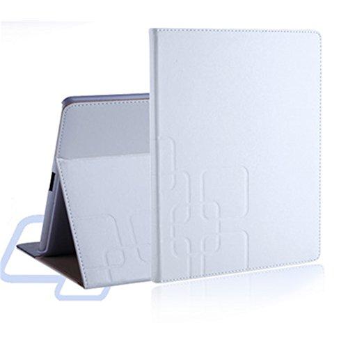 WYNETORE Apple iPad Air 2 (iPad 6) 専用レザーケース カバー スタンド機能 オートスリーブ機能付き 【全6色】(ホワイト)