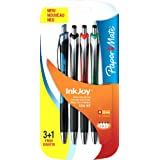 Papermate Inkjoy 550 RT Stylo Bille Rétractable Pointe Moyenne Assortiment Standard, Lot de 4
