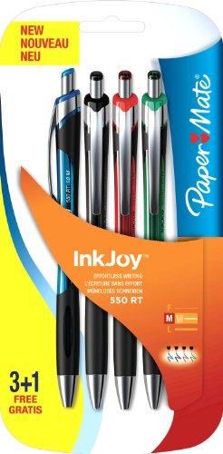 paper-mate-inkjoy-550-penne-a-sfera-con-punta-retrattile-tratto-medio-confezione-da-3-1-colori-assor