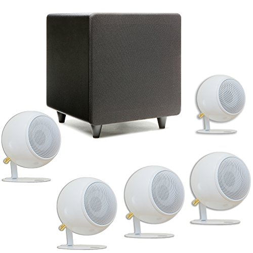 Orb Audio Mini 5.1 Home Theater Speaker System in Pearl White Gloss