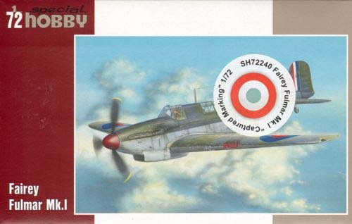 Fairey Fulmar Mk I Captured Marking Fighter 1/72 Special Hobby