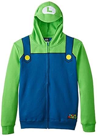 Amazon Nintendo Luigi Bill Men s Green Zip Up Costume