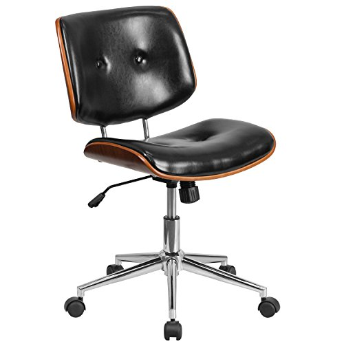 flash-furniture-mid-back-black-leather-ergonomic-wood-swivel-task-chair