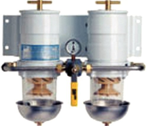 MAX-DUAL Fuel Filter/Water Separator, ROTARY VALVE